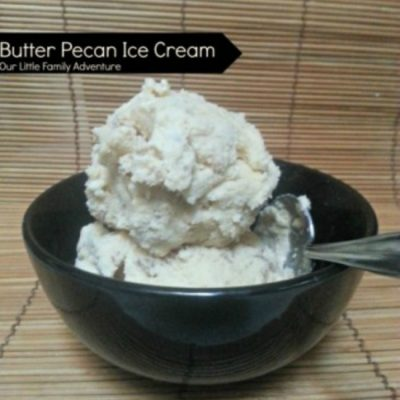 Butter Pecan Homemade Ice Cream