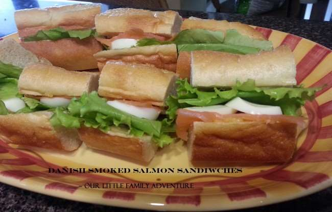Danish Smoked Salmon Sandwiches - #seafood #recipe #sandwich