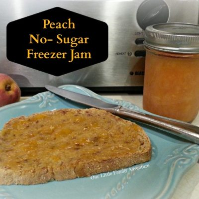 No-Sugar Freezer Peach Jam
