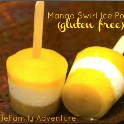 Mango Swirl Ice Pops (gluten free)