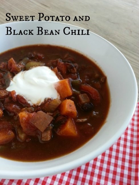 Vegetarian Chili with Sweet potato and black beans