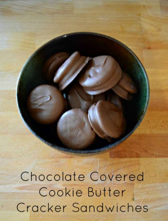 Chocolate Covered Cookie Butter Cracker Sandwiches | Little Family ...