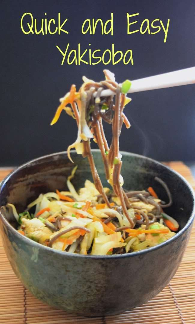 Quick and Easy Yakisoba with Buckwheat Noodles