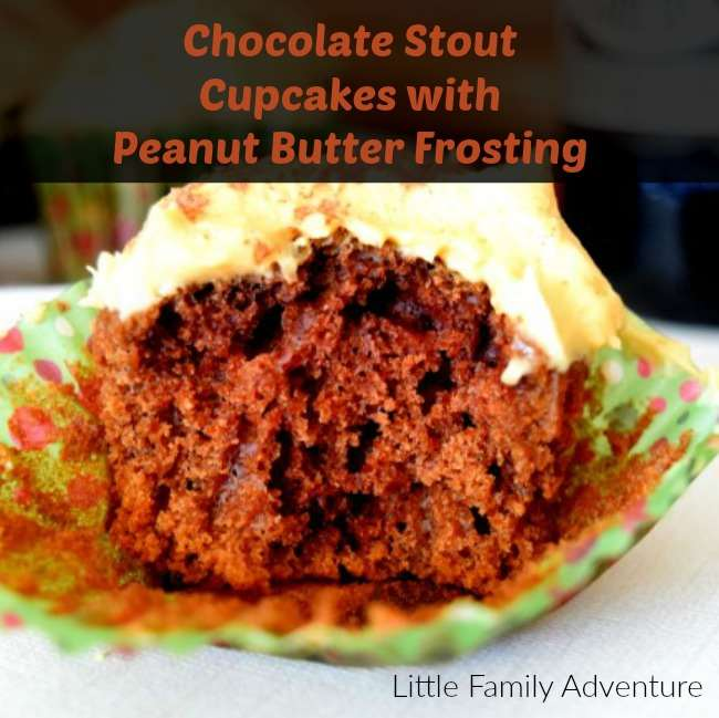 Chocolate Stout Cupcakes with Peanut Butter Frosting | Little Family ...
