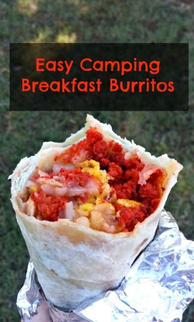 Easy Camping Breakfast Burritos Before your head out on your next family camping trip, you must check out these 26 camping recipes. We will want to try these family-friendly recipes ranging from main entrees to desserts and snacks. These meal ideas are sure to make your next campout a great success!