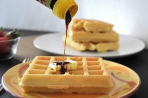 Disney Mickey Waffles with No-refined sugar