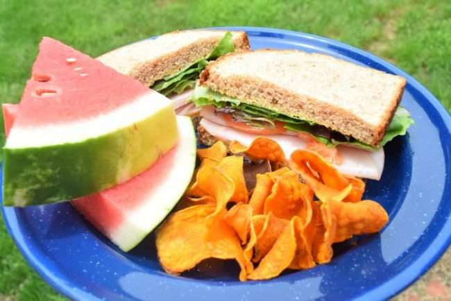 Cold Cut Sandwiches are an easy meal for camping | Camping Food: Meal Plan, Recipes, & Tips for a Weekend Campout | Everything you need to cook great food on your next campout; menu, printable grocery list, recipes, etc.