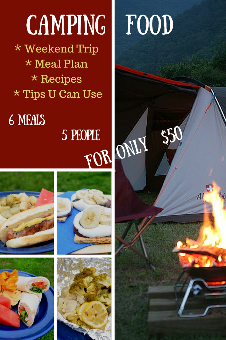 weekend camping meal plan recipes 4 5 people for only 50 page 2 of 6 little family adventure. Black Bedroom Furniture Sets. Home Design Ideas