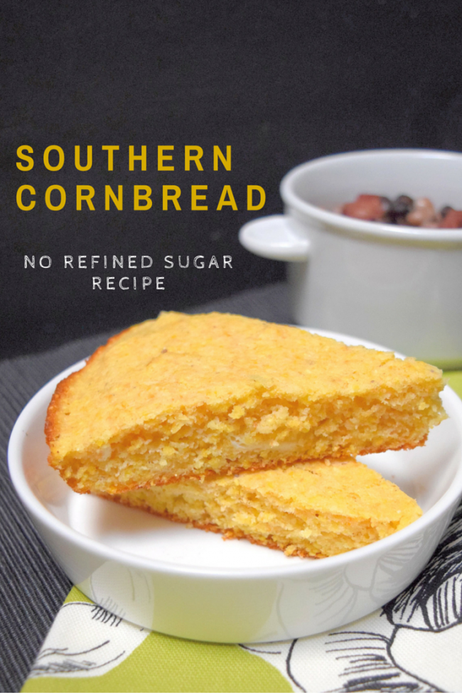 Southern Cornbread (no refined sugar recipe) | Little Family Adventure