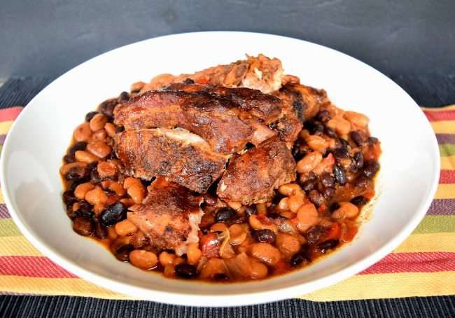 Slice up your ribs and serve with baked beans and other BBQ side ...