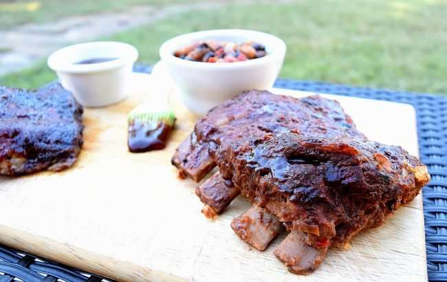 Slow Cooker Barbecue Ribs and Baked Beans | Little Family Adventure