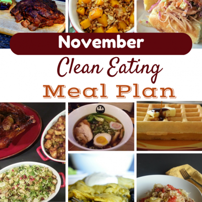 November Clean Eating Meal Plan