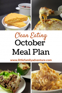 October Clean Eating Meal Plan