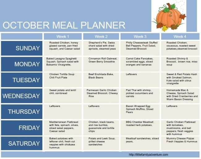 fun ideas for outdoor family pictures - October Clean Eating Grocery List Meal Plan Week 4
