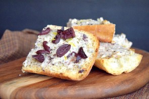 Delicious Greek Bread with Kalamata Olives + a secret ingredient