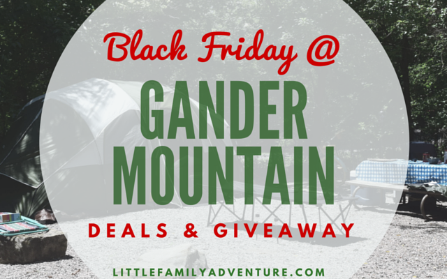 Fuel Your Adventure with Gander Mountain Black Friday Sales & Giveaway