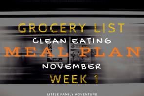 Clean Eating Meal Plan Grocery List – November Week 1