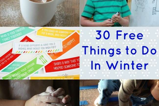 30 Free Things to Do with Kids Indoors in Winter