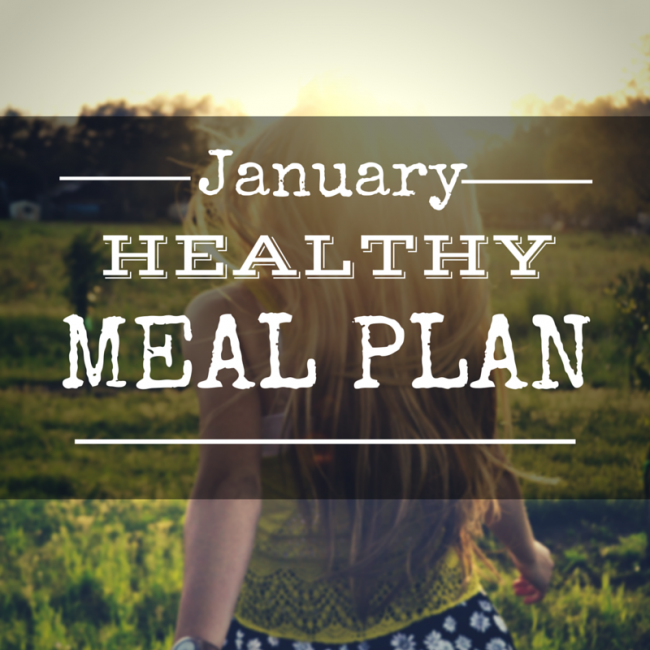 January Healthy Meal Plan - A momth's worth of clean eating dinner recipes #mealplanning #menuplanner