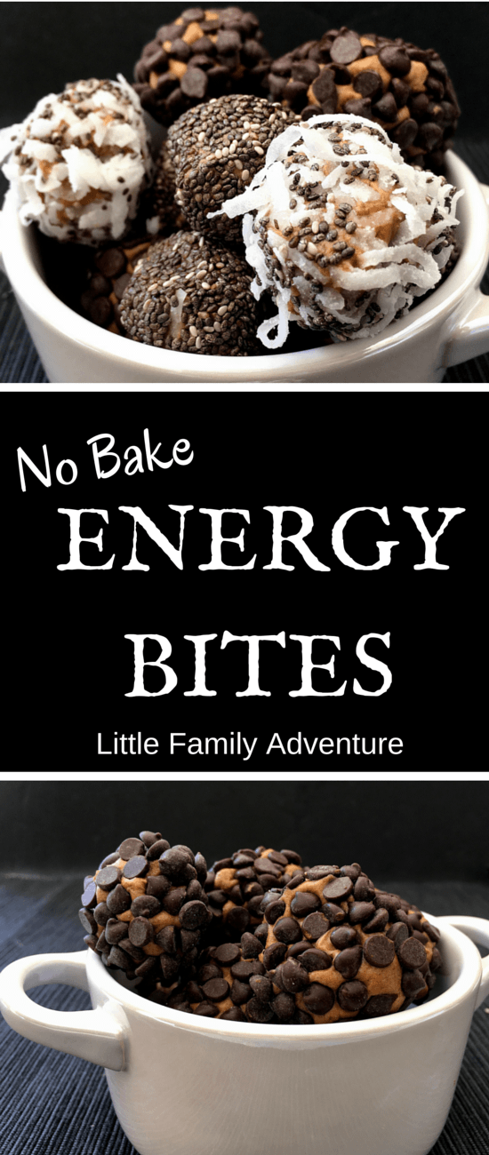 Upgrade Your Snacks with No Bake Energy Bites - Protein packed snack bites with nut butter, protein powder, honey, and coconut oil. No refined sugars and healthy ingredients make these a great snack food. #Ad
