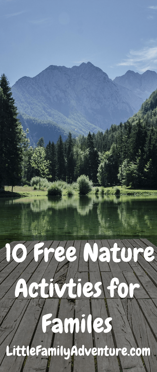 10 FREE Nature Activities for familes - Now is a great time to get outdoors with your family. Here are a few ideas to help you out and exploring. Plus there is a printable calendar to help you schedule more family time together.