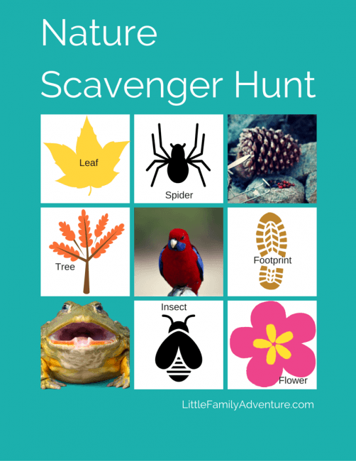 Printable Scavenger Hunt for Hiking- Hiking with Kids Essentials