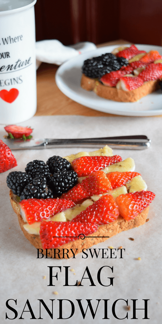 Never Make a Boring Sandwich Again with These recipes - Berry Sweet American Flag Sandwich