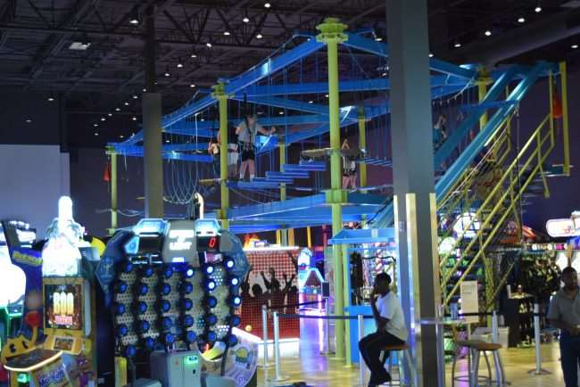 Gravity Ropes Course at Main Event is great fun for kids and adults. Give it a try #FUNstigators