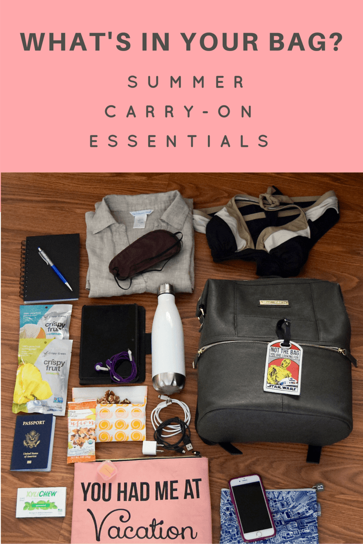 Summer Carry On Only Wardrobe For Spain: What's In My Travel Bag: Summer Carry On Essentials