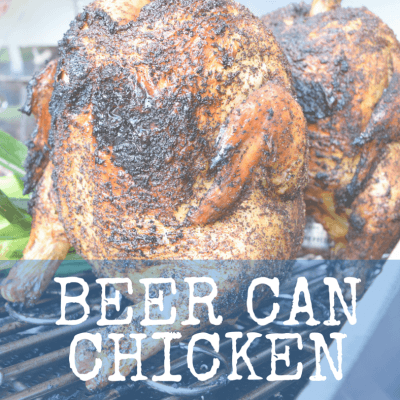 Beer Can Chicken with Coffee Brown Sugar Rub