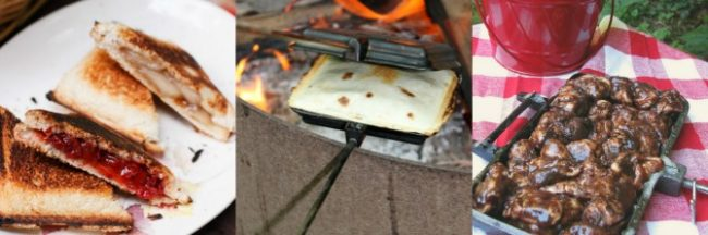 Snacks in the camper pie iron