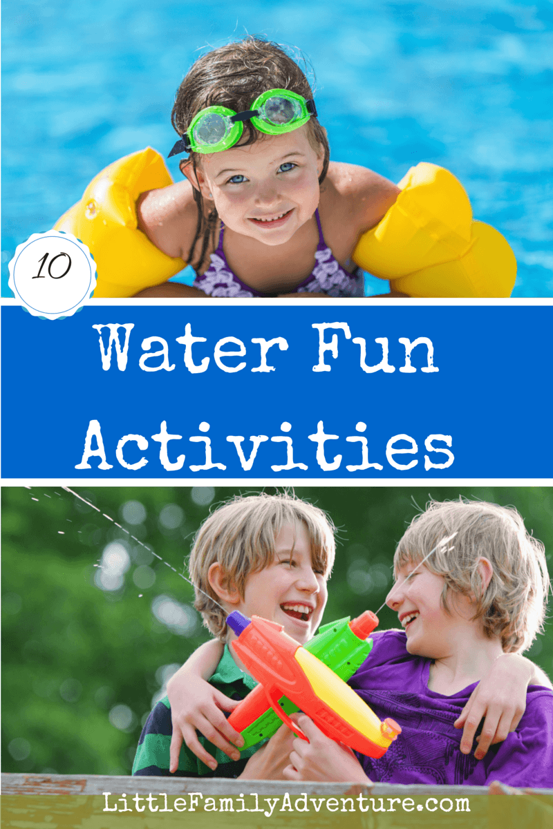 "10 Water Activities for Kids - Never hear ""I'm Bored"" with these fun ideas that provide hours of summer fun."