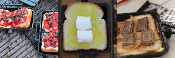 dessert in a camper pie iron