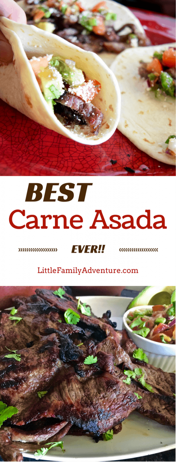 Looking for a quick and easy grilled carne asada recipe? Try the Best Carne Asada Recipe Ever! Restaurant quality carne asada perfect for tacos, burritos, nachos, salads, etc. fabulous for family dinner or for crowds! It's so easy that you'll never bother with Mexican take out again, plus with @ALDIUSA it's at a fraction of the price!#carneasada #grill #Mexican #ad
