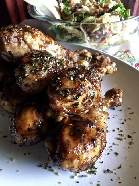 Moroccan Spiced Pomegranate Molasses Chicken