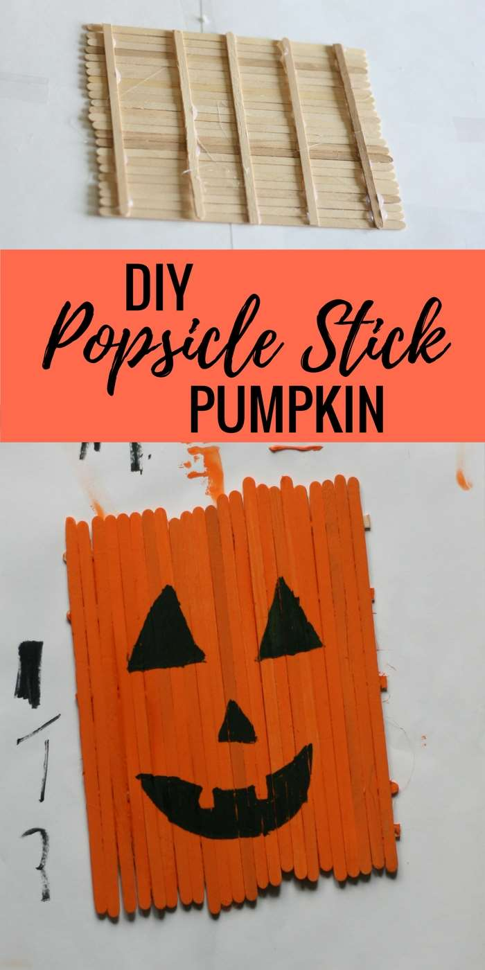 diy popsicle stick pumpkin