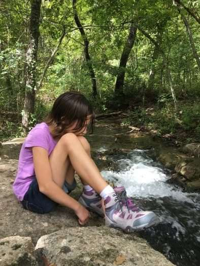 Essential Fall Gear Guide For Outdoor Families -These Hi Tec hikers has the Big Fit system so they grow with your child - Lightweight, comfortable shoes are a must
