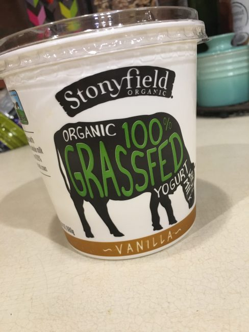 Stonyfield 100% Grassfed yogurt is perfect for our Gluten Free Pumpkin Spice Granola Yogurt Parfaits