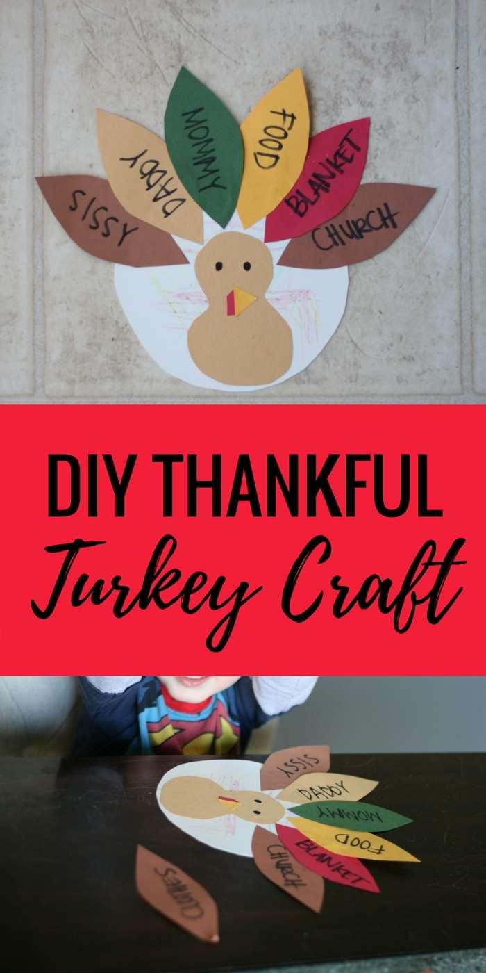 DIY Thankful Turkey Craft