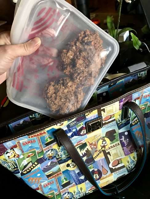 Portion control is super important when looking to snack healthy. These Stasher bags are silicone and make it easy to portion out snack servings