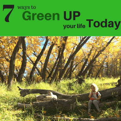 7 ways to Green UP your life today!