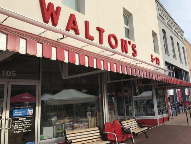 Walton's 5 & Dime is an actual store in Bentonville, AR and is a replica of what the 1st stores Sam Walton started that would later become Walmart