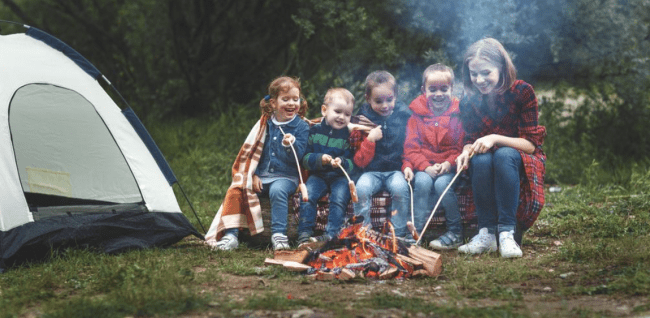 Fun & Food on a Stick: Go Fork Free and Make these Easy Camping Meals with Kids using skewers, marshmallow sticks, or sticks