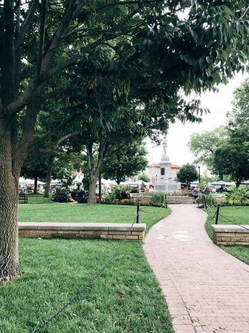 Stop by the Bentonville Square when in Bentonville, AR. There are quaint shops, great restaurants, and event happenings.