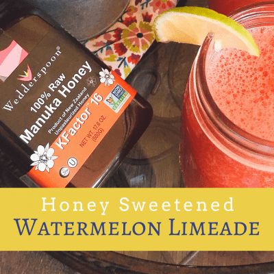 Honey Sweetened Watermelon Limeade