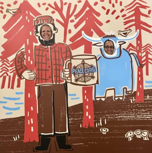 Paul Bunyan and Babe Photo Opp at the MN State Fair with Peace Coffee