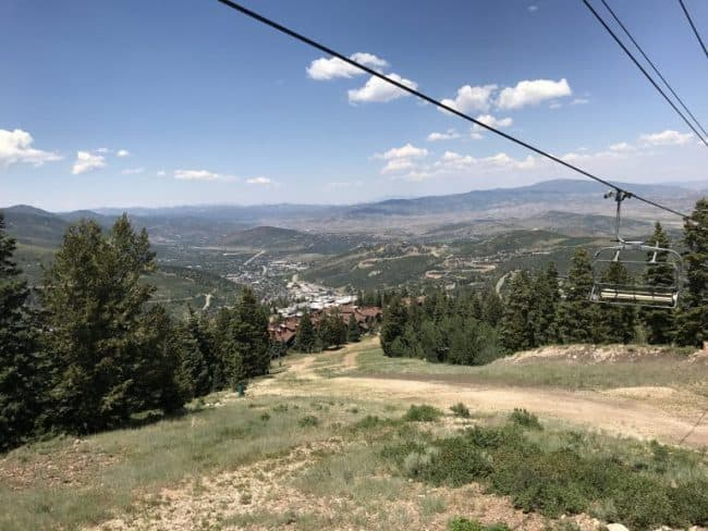 View from mid mountain at DeerValley