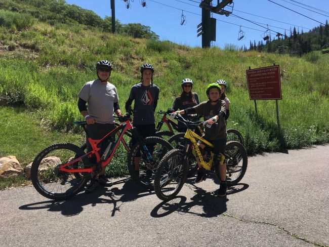 Mountain Biking School in Deer Valley, Park City, Utah