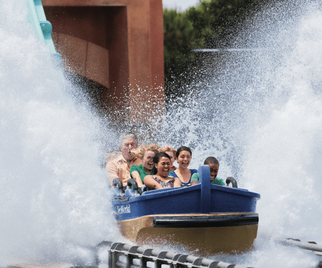 Rio Loco ride at Sea World San Antonio