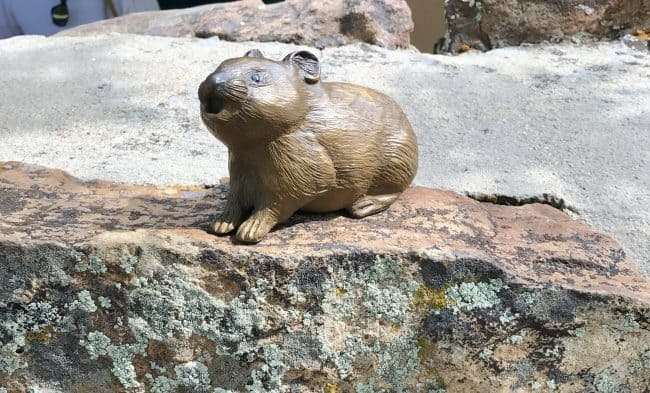Pikas in the Park statue